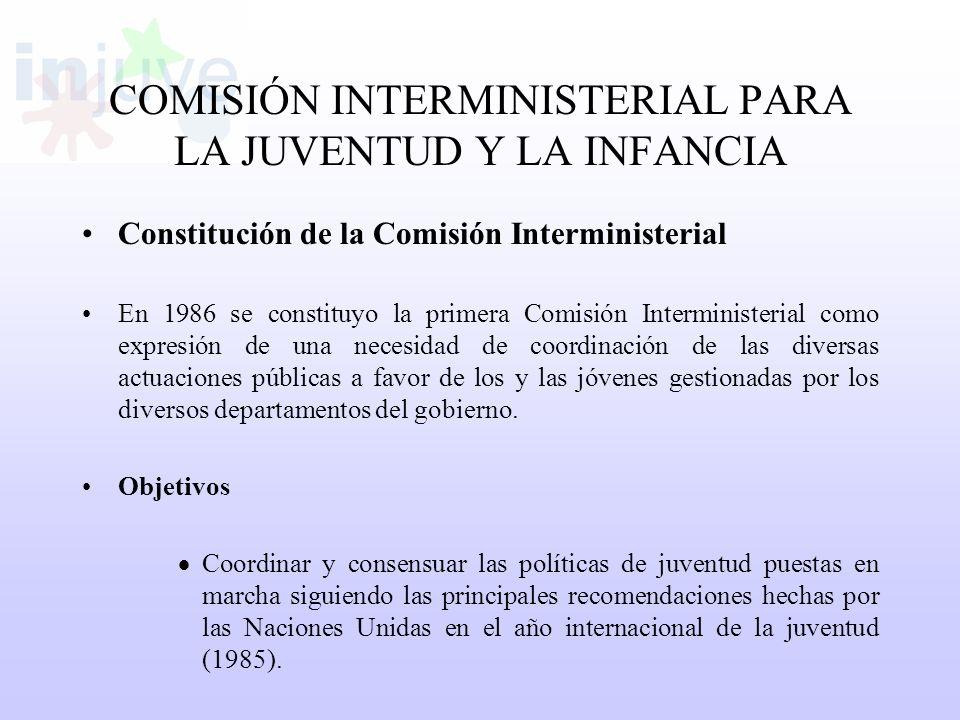 COMISIÓN INTERMINISTERIAL PARA LA JUVENTUD Y LA INFANCIA