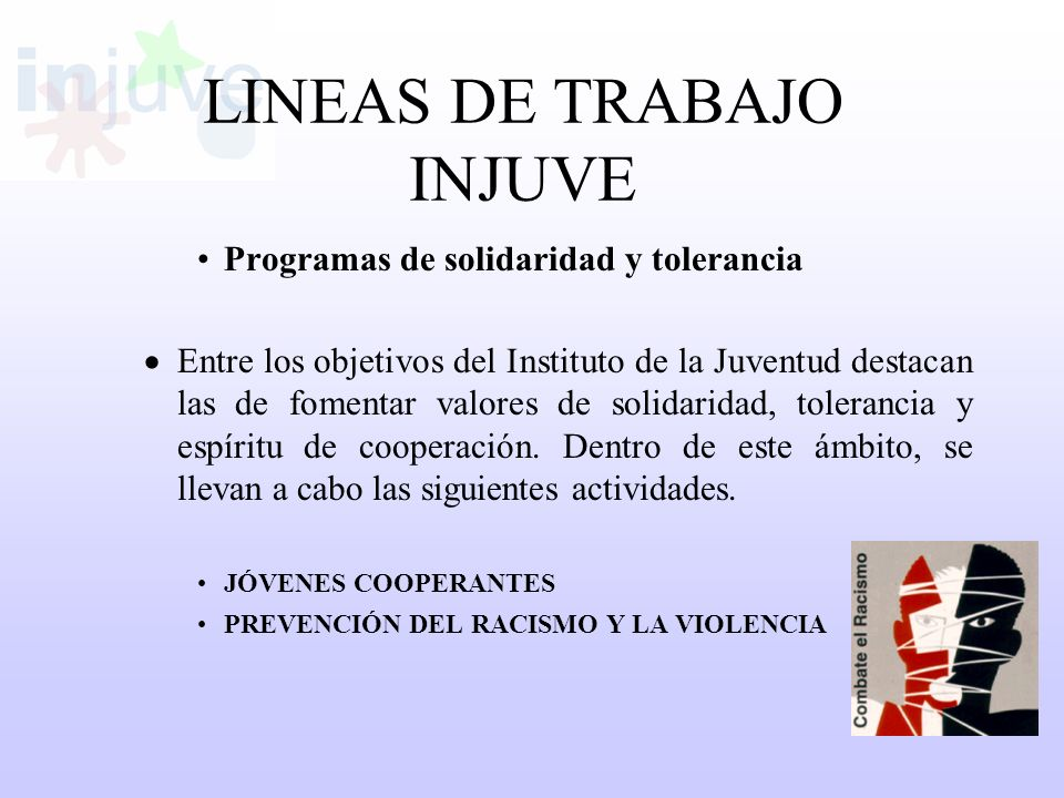 LINEAS DE TRABAJO INJUVE