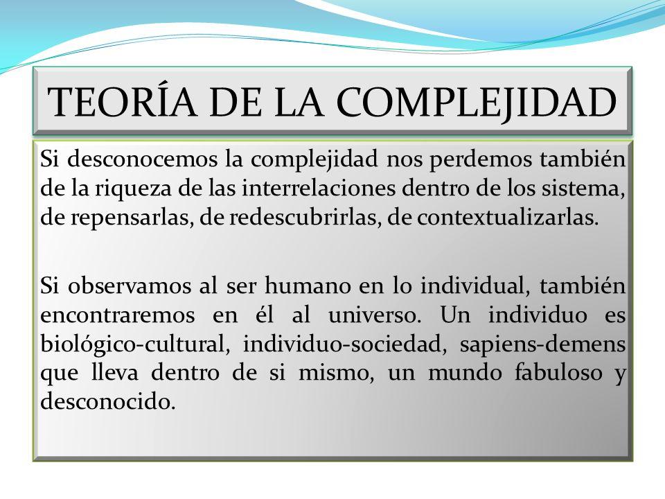 TEORÍA DE LA COMPLEJIDAD