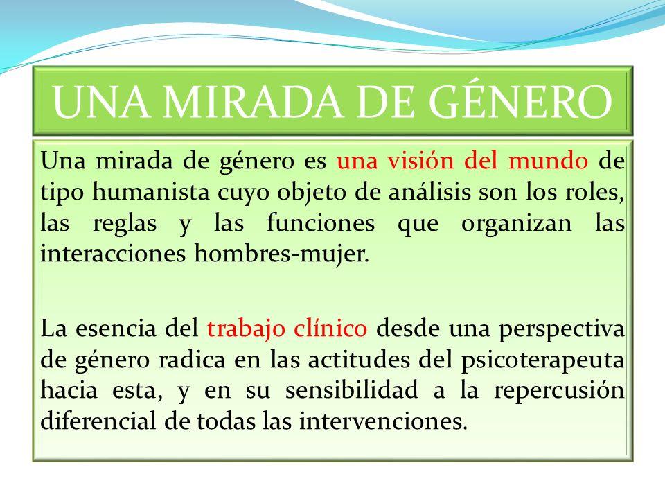 UNA MIRADA DE GÉNERO