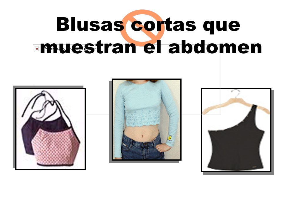 Blusas cortas que muestran el abdomen