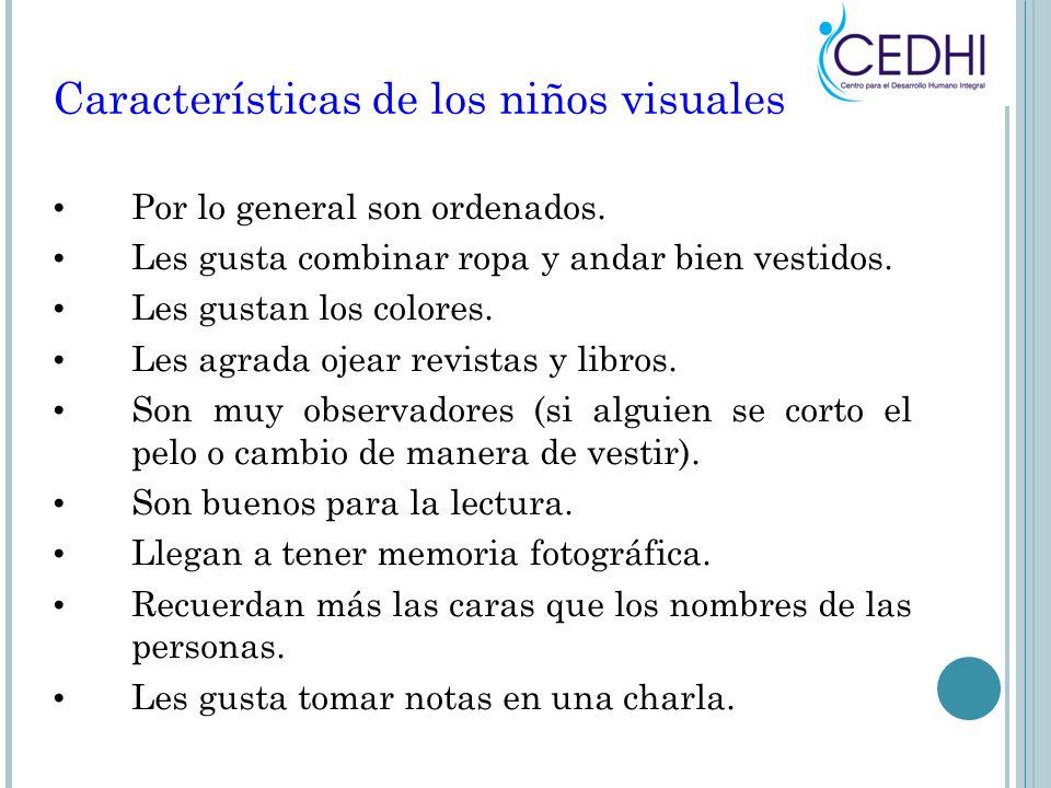 Características de los niños visuales