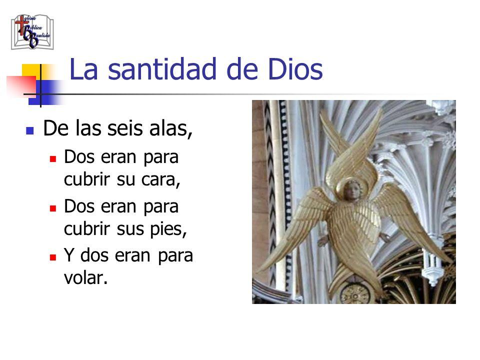 La santidad de Dios De las seis alas, Dos eran para cubrir su cara,