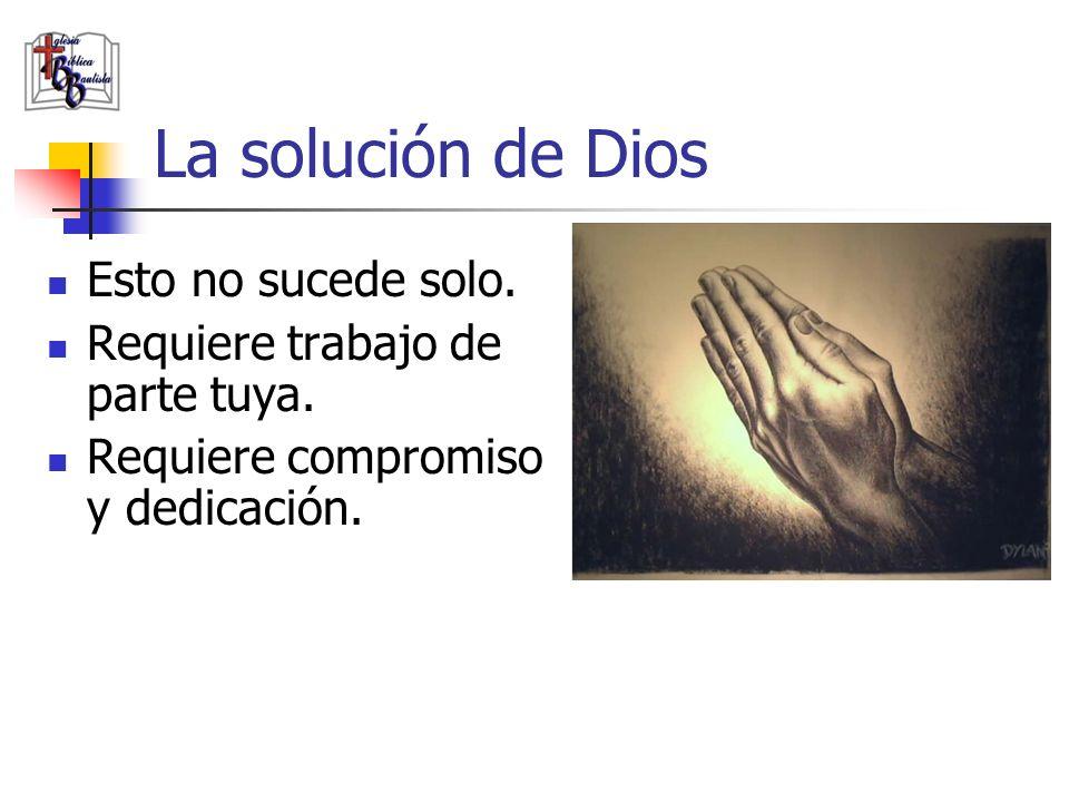 La solución de Dios Esto no sucede solo.