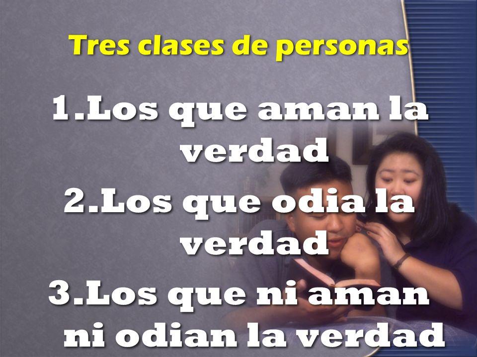 Tres clases de personas
