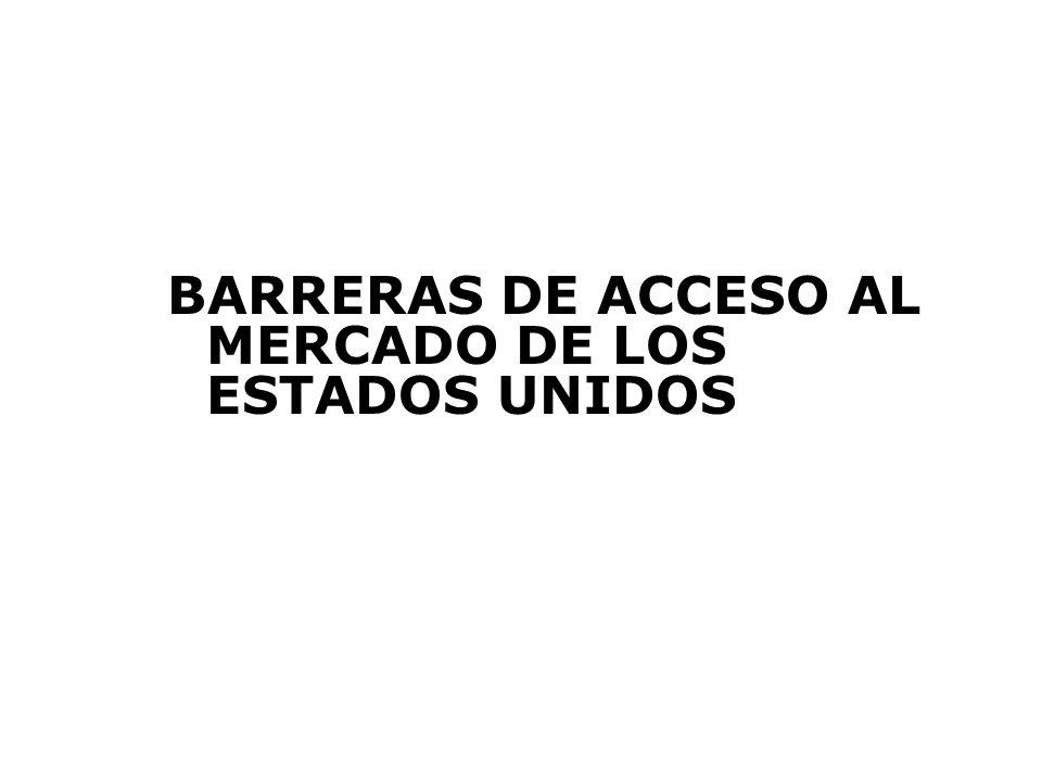 BARRERAS DE ACCESO AL MERCADO DE LOS ESTADOS UNIDOS