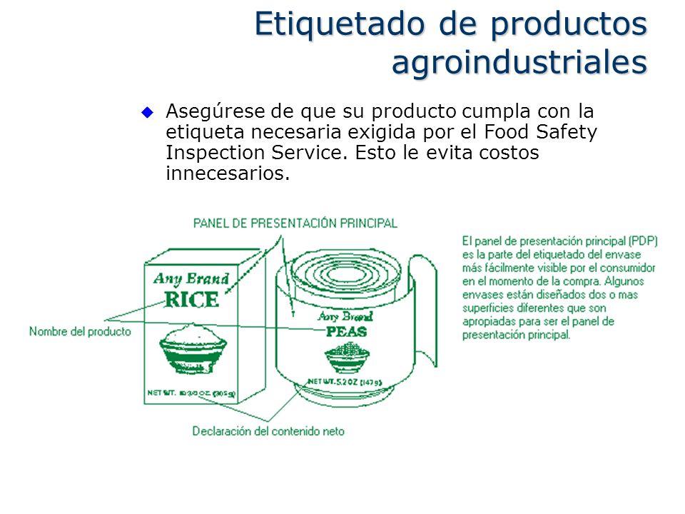 Etiquetado de productos agroindustriales