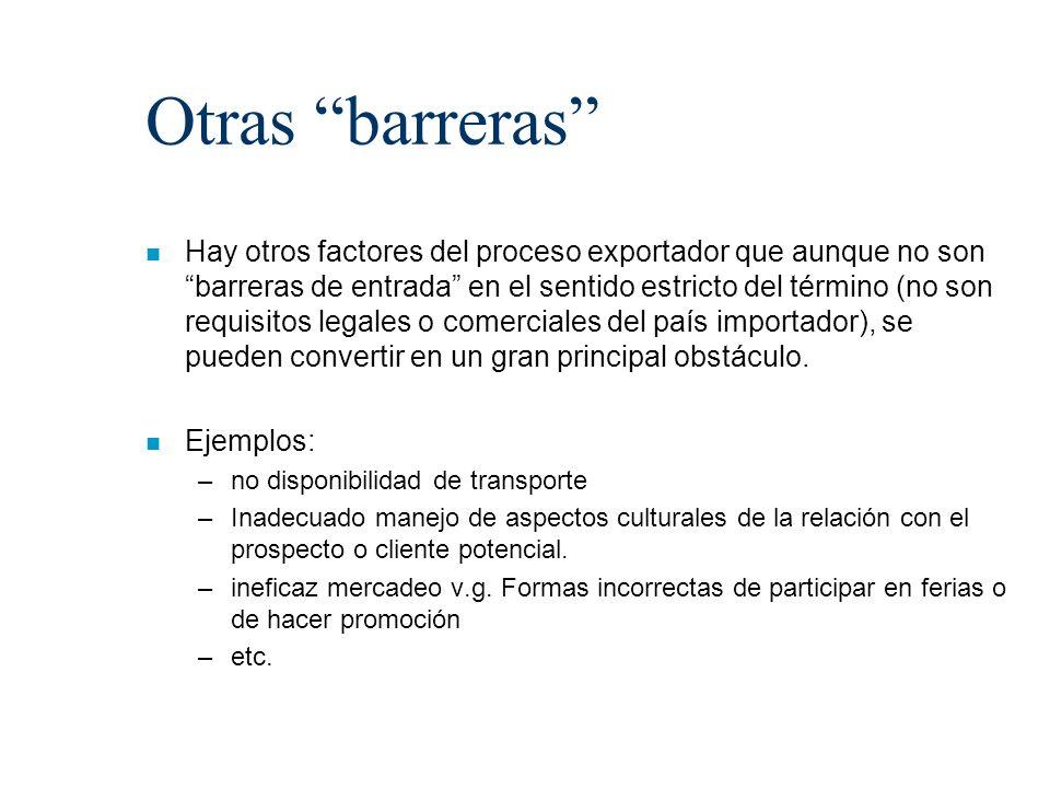 Otras barreras
