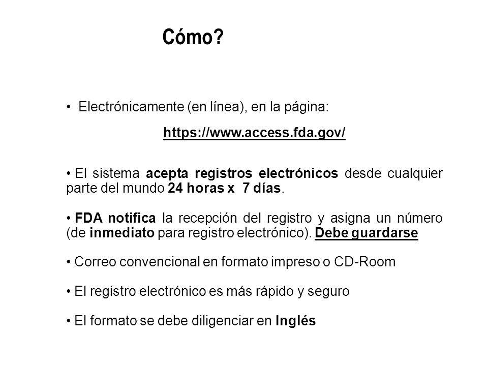 Cómo Electrónicamente (en línea), en la página: