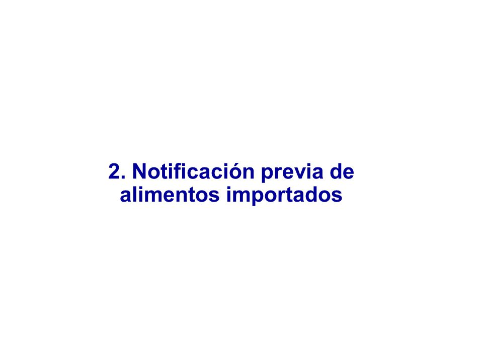 2. Notificación previa de
