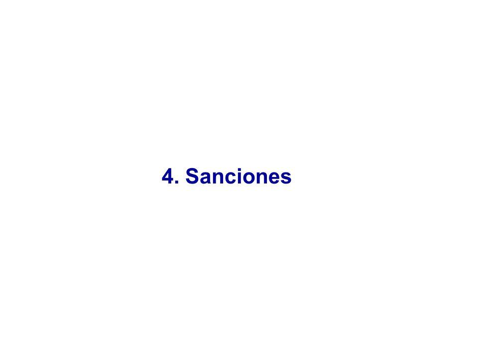 4. Sanciones