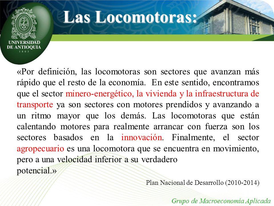 Las Locomotoras: Plan Nacional de Desarrollo (2010-2014)