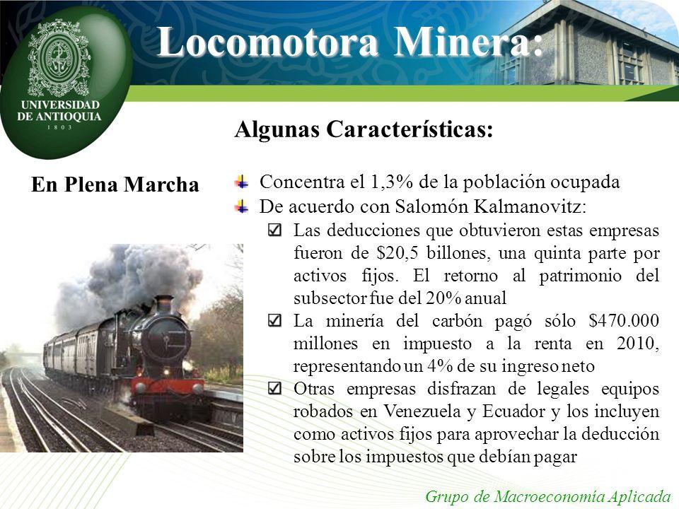 Locomotora Minera: Algunas Características: En Plena Marcha