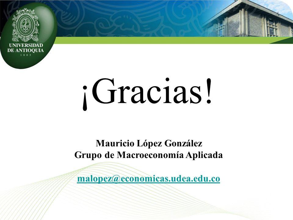 Mauricio López González Grupo de Macroeconomía Aplicada