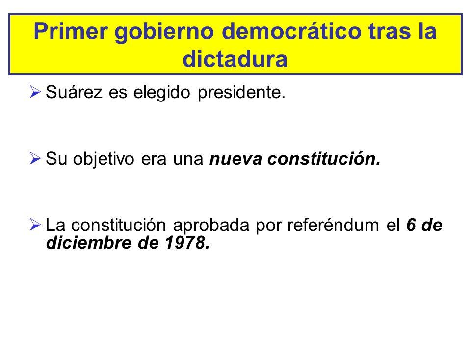 Primer gobierno democrático tras la dictadura