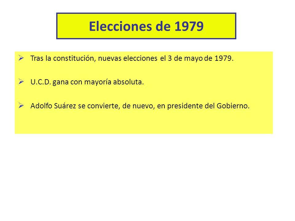Adolfo Suárez no presentó ningún programa electoral