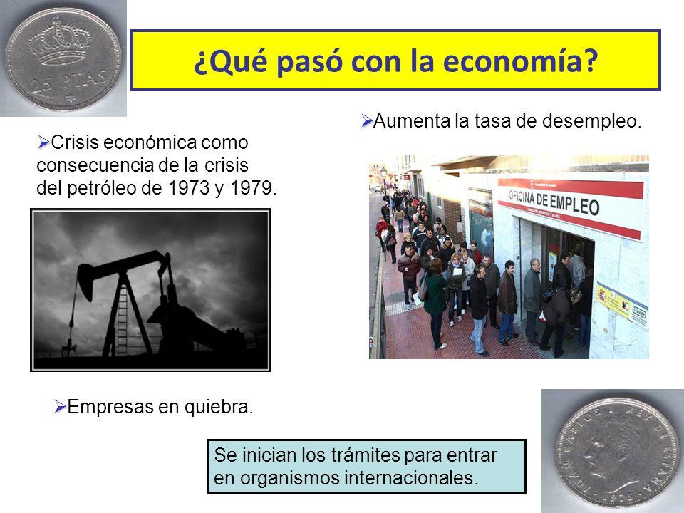 ¿Qué pasó con la economía