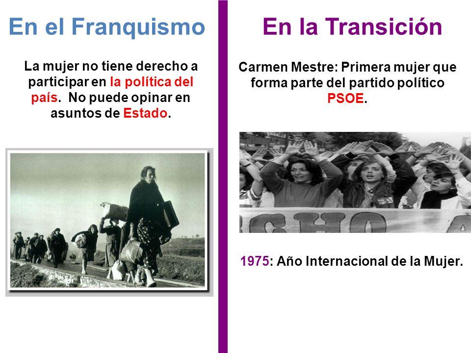 1975: Año Internacional de la Mujer.