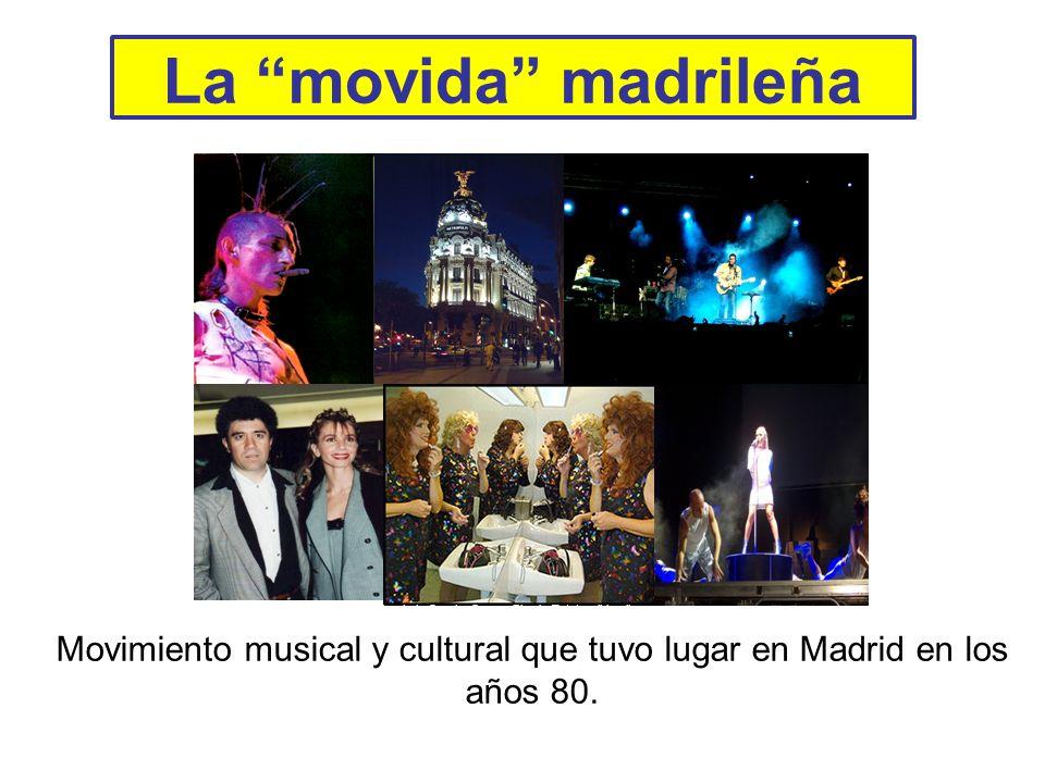 Movimiento musical y cultural que tuvo lugar en Madrid en los años 80.