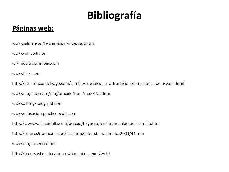 Bibliografía Páginas web: