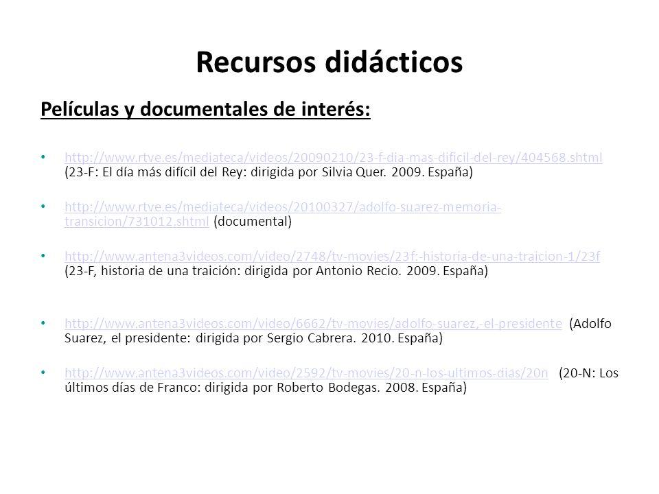 Recursos didácticos Películas y documentales de interés: