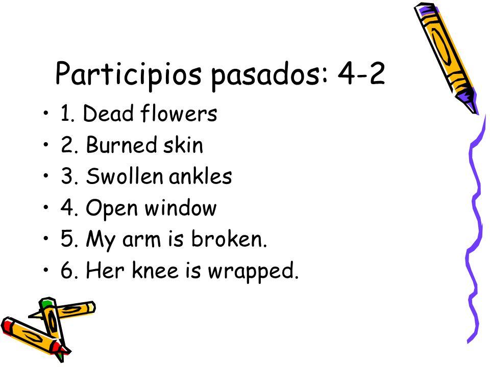 Participios pasados: 4-2