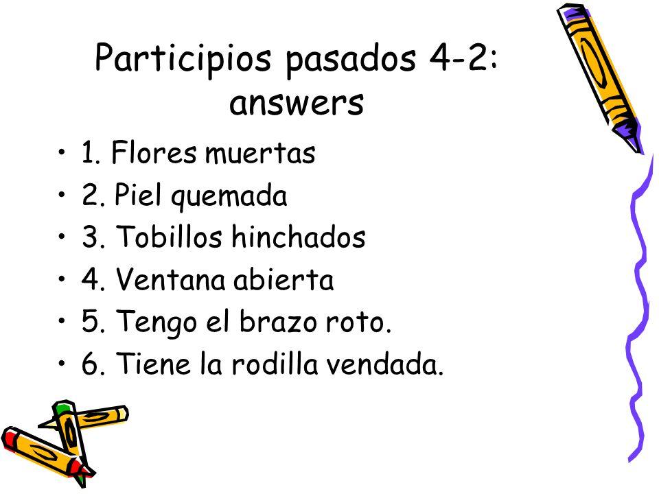 Participios pasados 4-2: answers