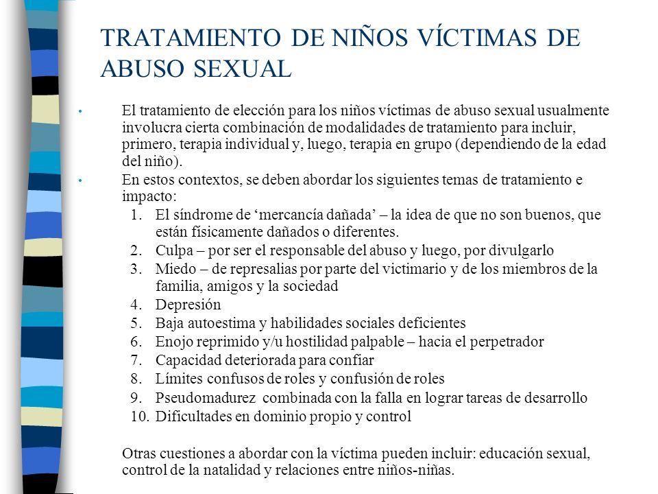 TRATAMIENTO DE NIÑOS VÍCTIMAS DE ABUSO SEXUAL