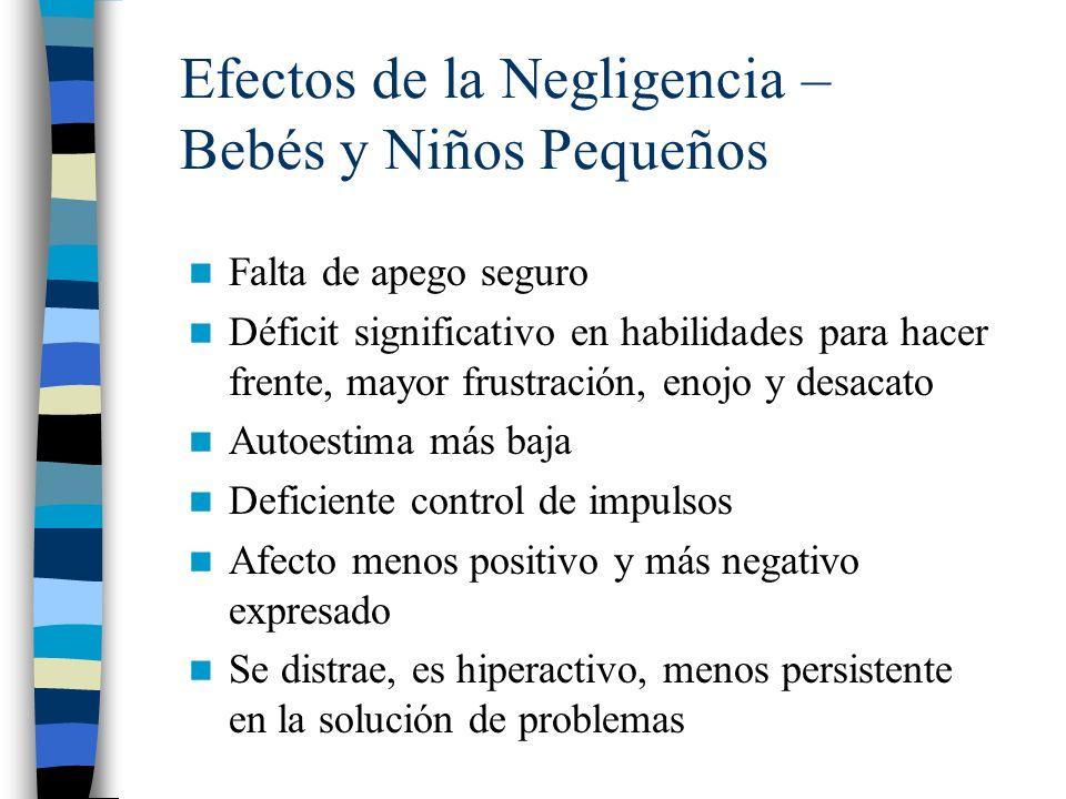 Efectos de la Negligencia – Bebés y Niños Pequeños