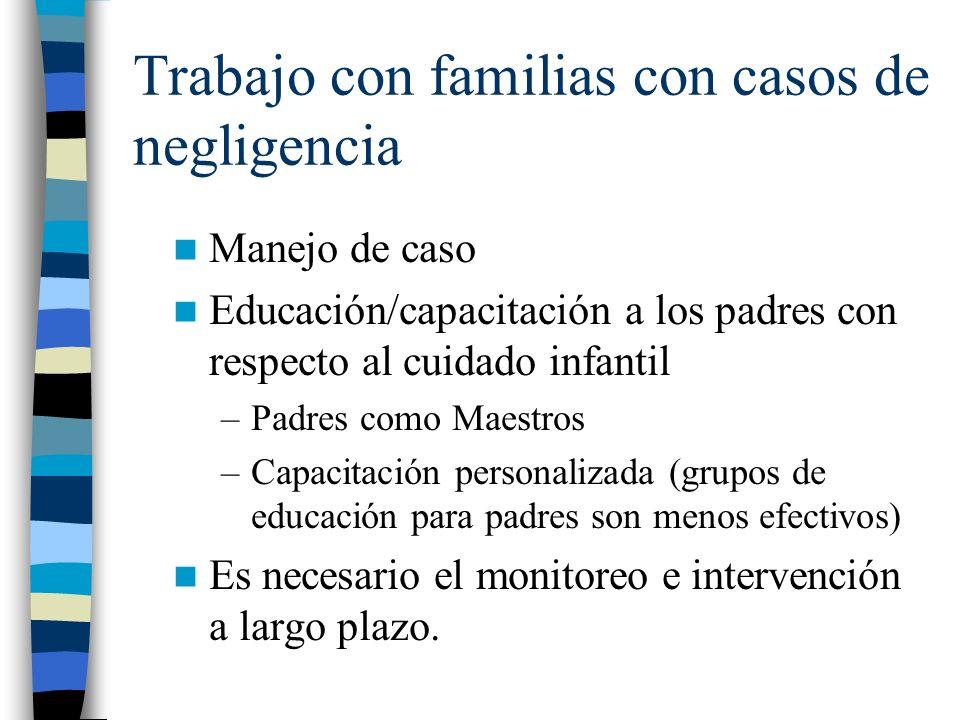 Trabajo con familias con casos de negligencia