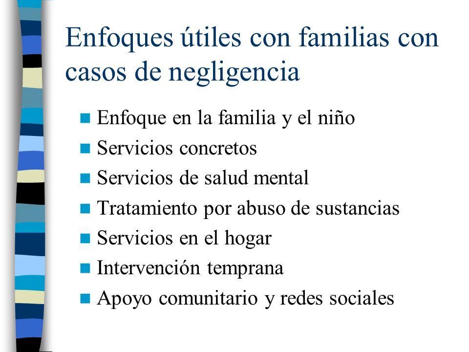 Enfoques útiles con familias con casos de negligencia