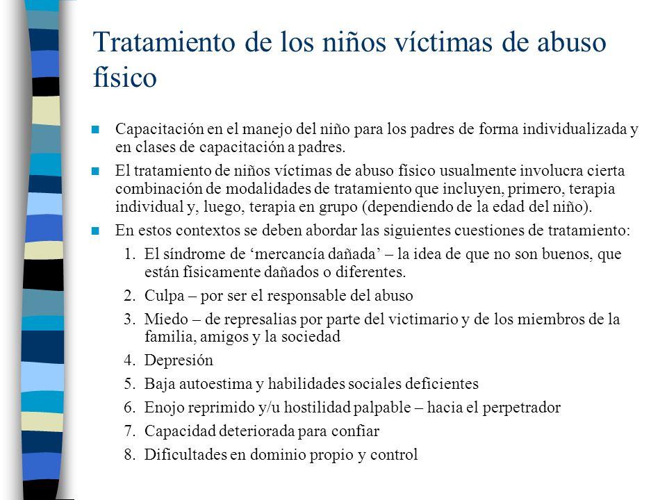 Tratamiento de los niños víctimas de abuso físico