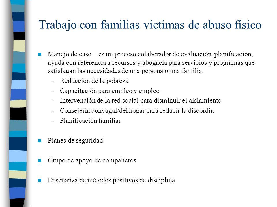 Trabajo con familias víctimas de abuso físico