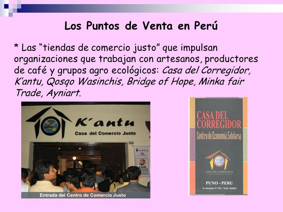 Los Puntos de Venta en Perú