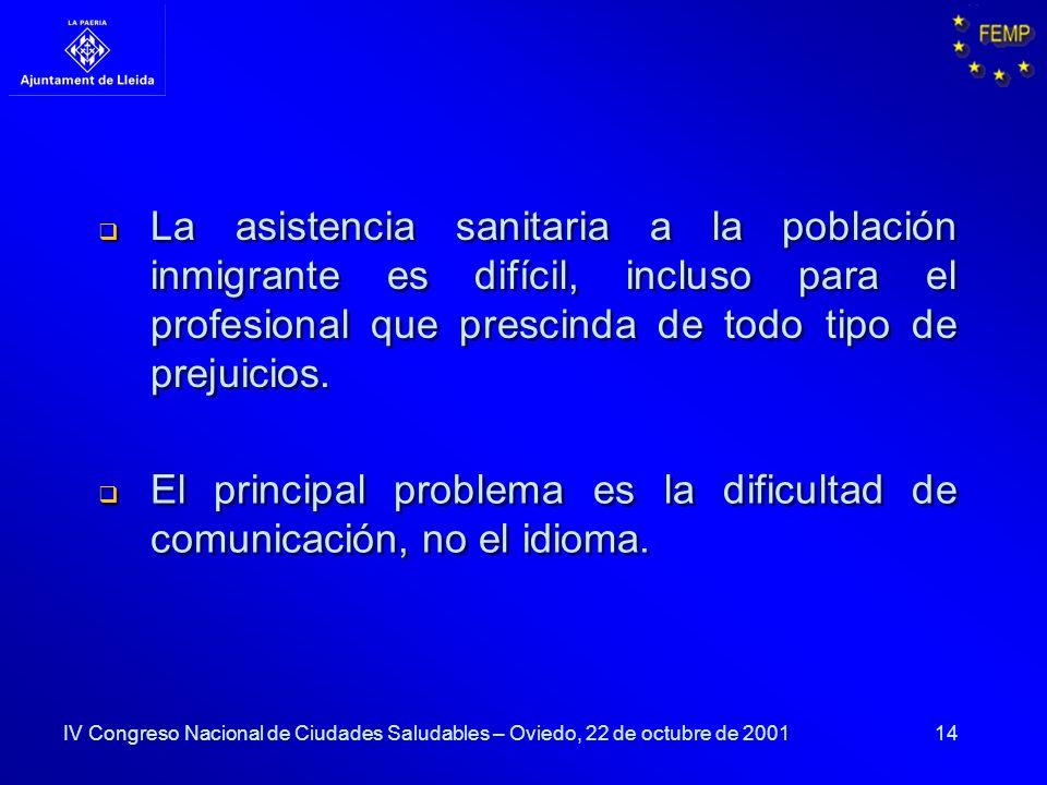 El principal problema es la dificultad de comunicación, no el idioma.