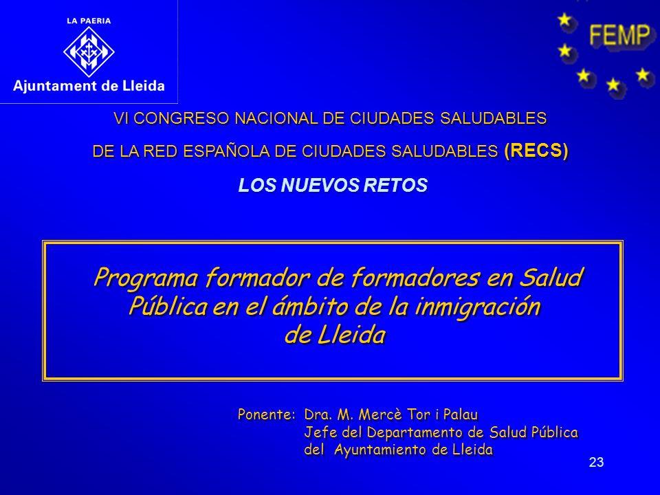 VI CONGRESO NACIONAL DE CIUDADES SALUDABLES