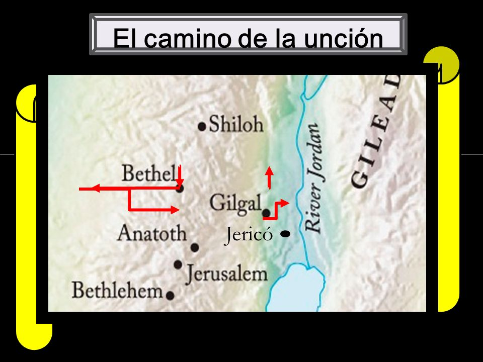 6 El camino de la unción Jerico Jericó