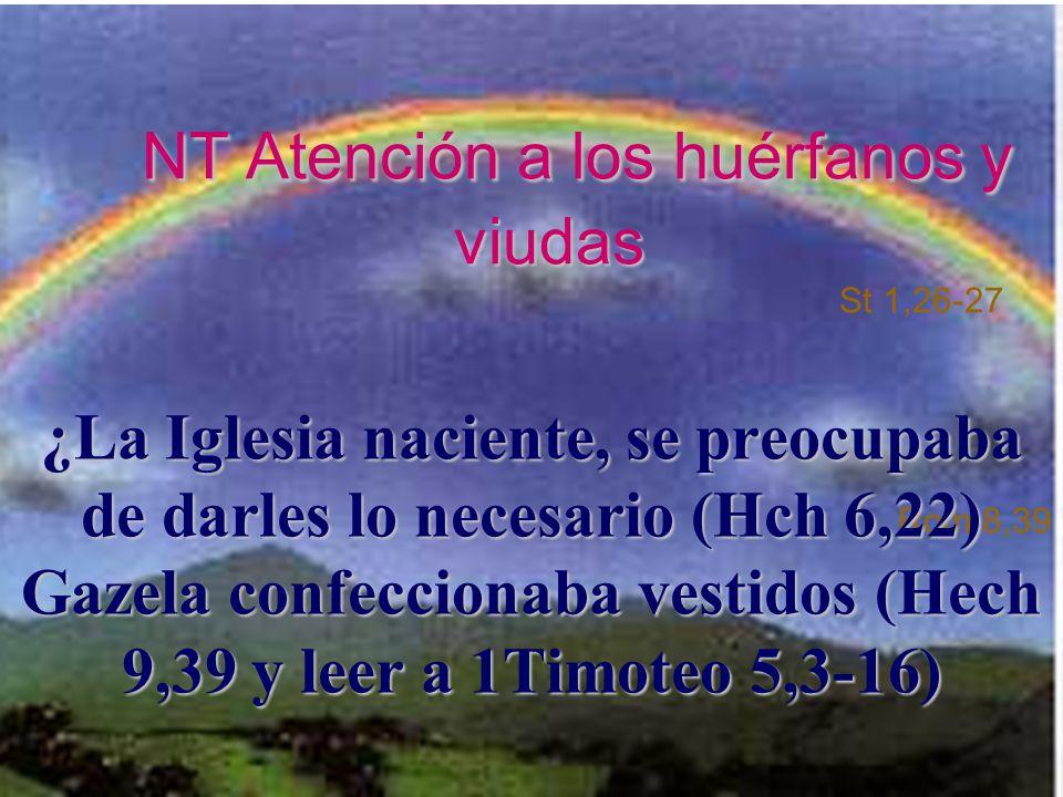 NT Atención a los huérfanos y viudas St 1,26-27 Rom 8,39