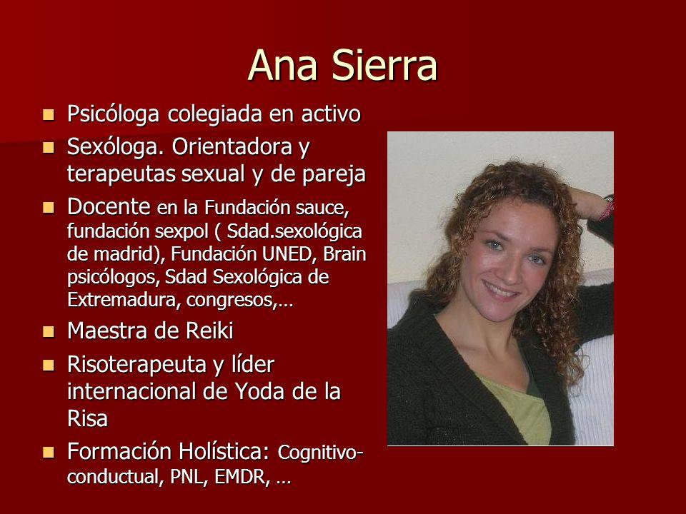 Ana Sierra Psicóloga colegiada en activo