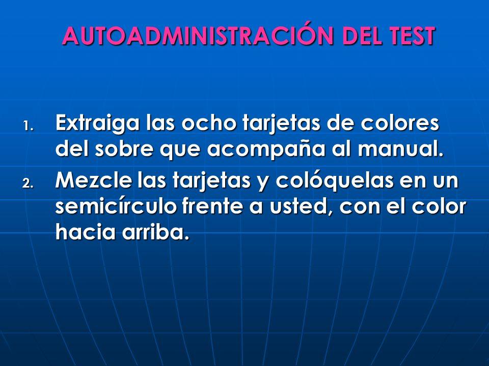AUTOADMINISTRACIÓN DEL TEST