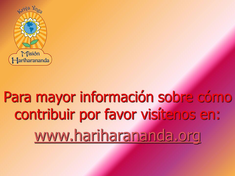 Para mayor información sobre cómo contribuir por favor visítenos en:
