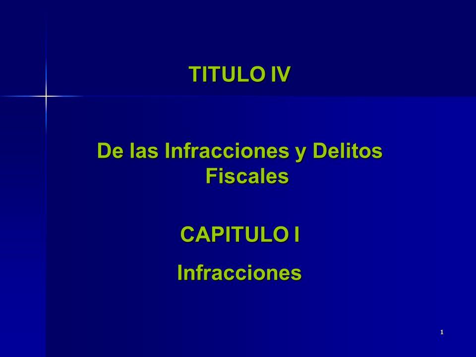 De las Infracciones y Delitos Fiscales