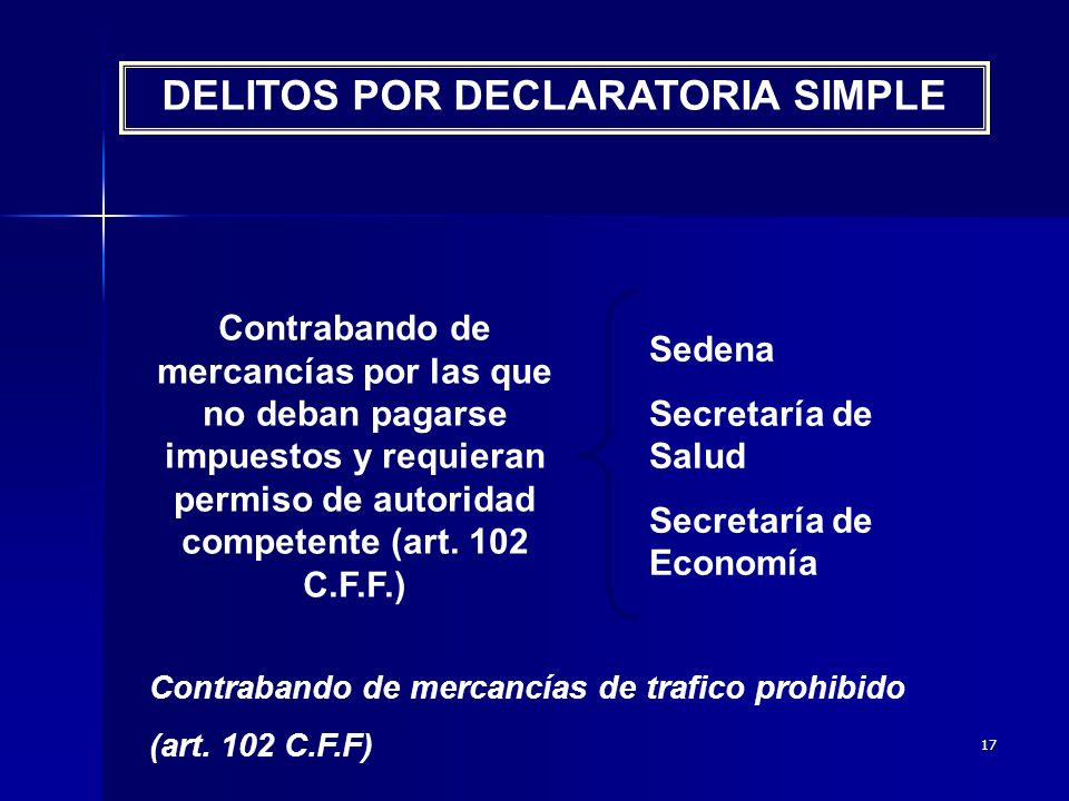 DELITOS POR DECLARATORIA SIMPLE