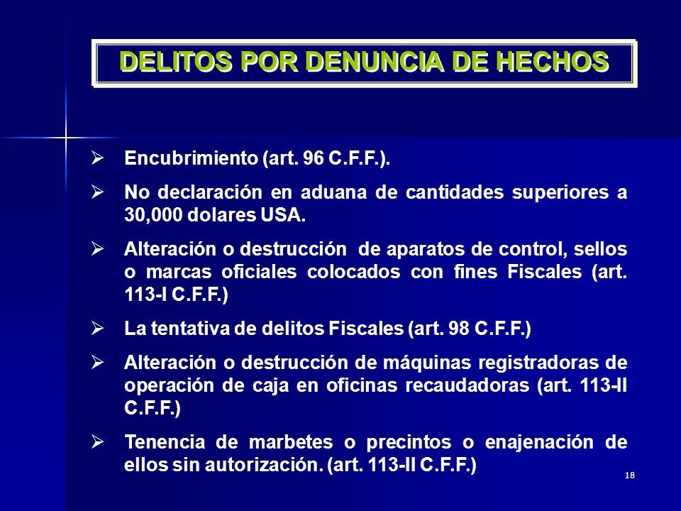 DELITOS POR DENUNCIA DE HECHOS