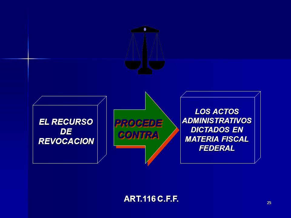 LOS ACTOS ADMINISTRATIVOS DICTADOS EN MATERIA FISCAL FEDERAL