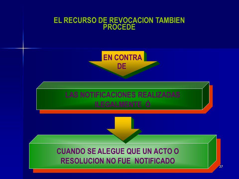 EL RECURSO DE REVOCACION TAMBIEN PROCEDE