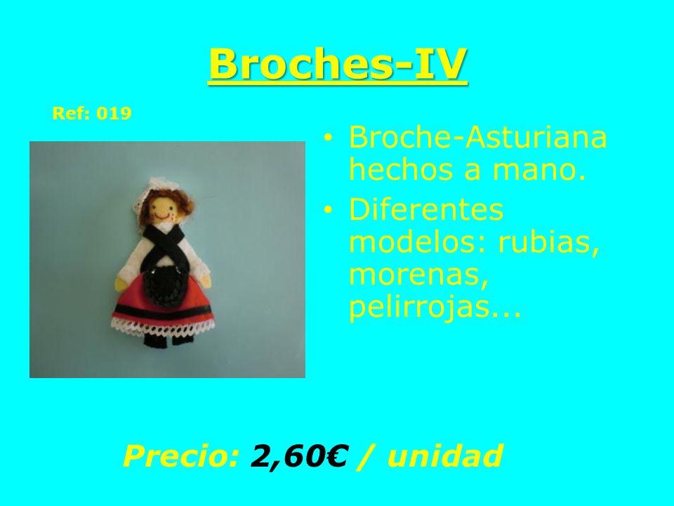 Broches-IV Broche-Asturiana hechos a mano.
