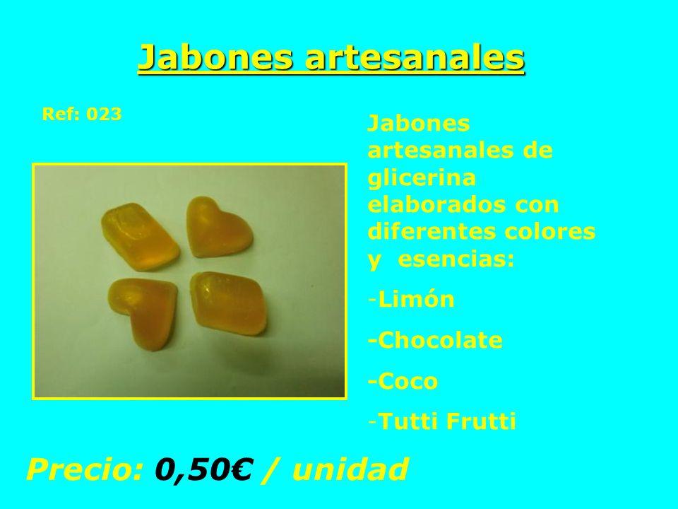 Jabones artesanales Precio: 0,50€ / unidad