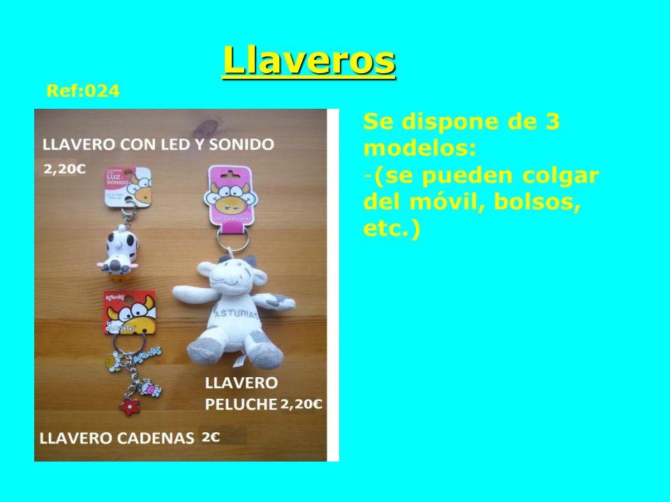 Llaveros Se dispone de 3 modelos:
