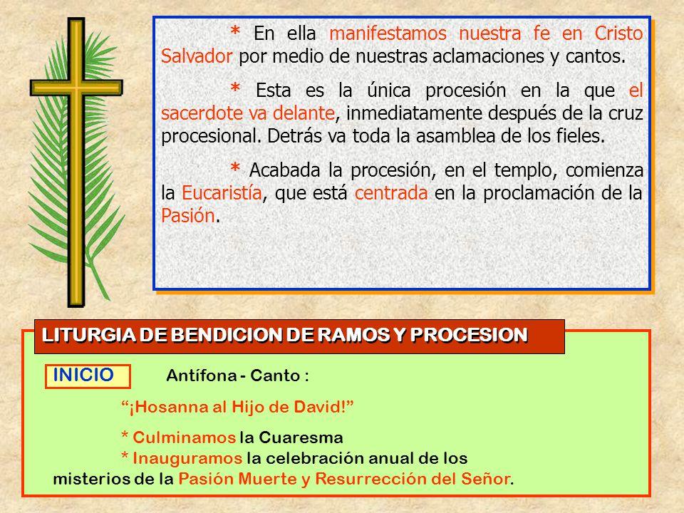 LITURGIA DE BENDICION DE RAMOS Y PROCESION